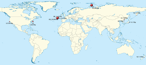 各国の海洋投棄