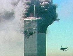 WTCに突っ込む2機目