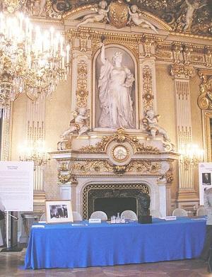 仏独の共同管理構想に使われた仏外務省の部屋