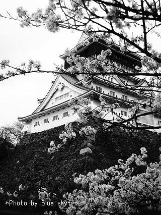 小倉城モノクロ