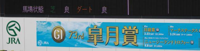 皐月賞2013パドック看板