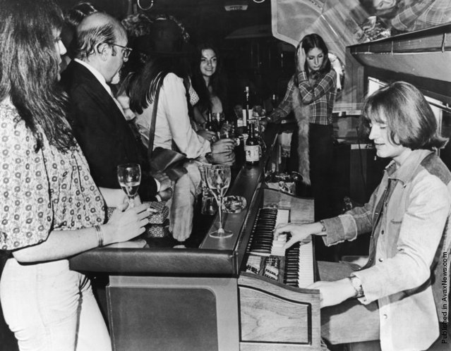 JPJ on organ onboard starship July 30 1973 Daily ExpressHulton ArchiveGetty Images