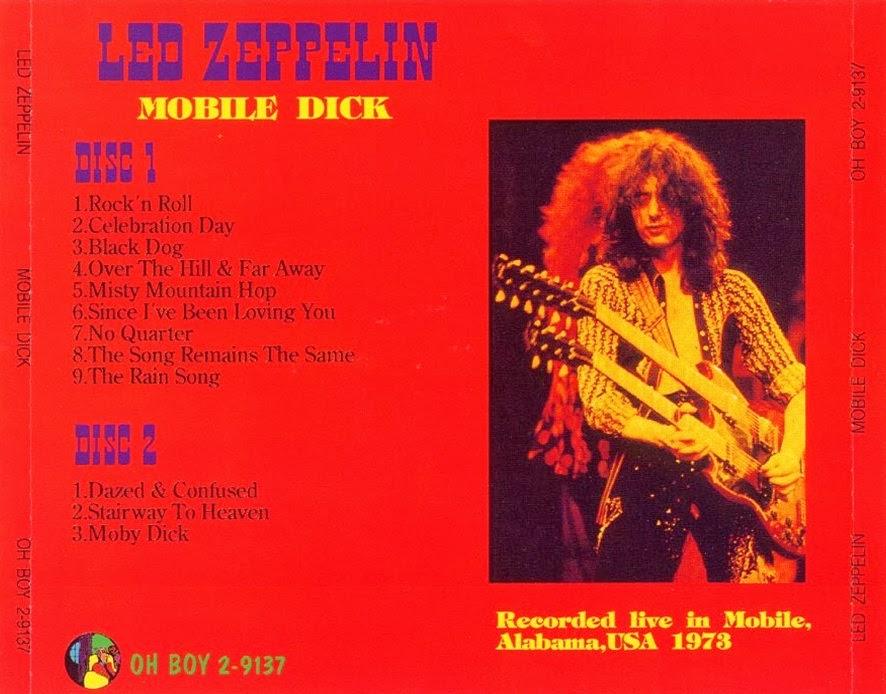 Led Zeppelin [1973 05 13] Mobile Dick (OH BOY 2-9137)- Back Cover