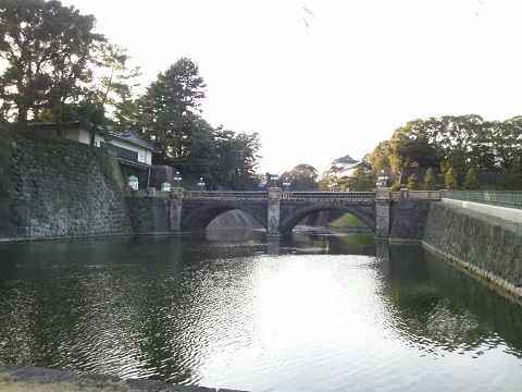 二重橋・皇居正門~奥に伏見櫓