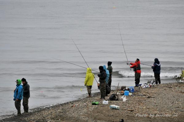 2HKD_古平町浜の秋鮭の釣り人