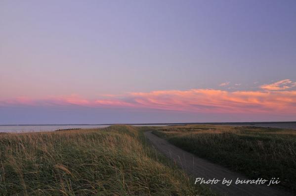 14HKD_8374風蓮湖走古丹から根室半島の夕景1659