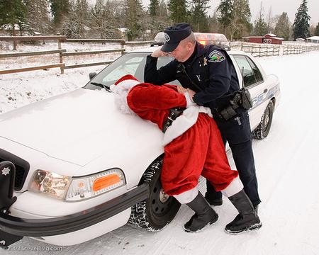 サンタ逮捕