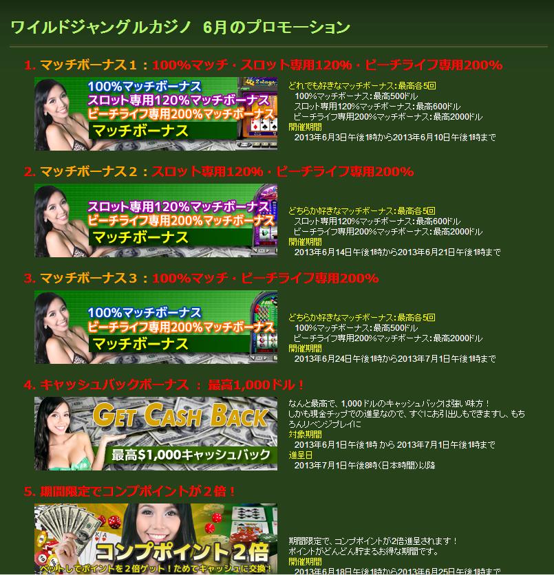 ワイルドジャングルカジノ4