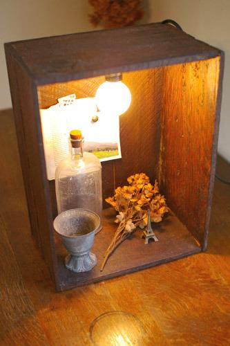 木箱ライト