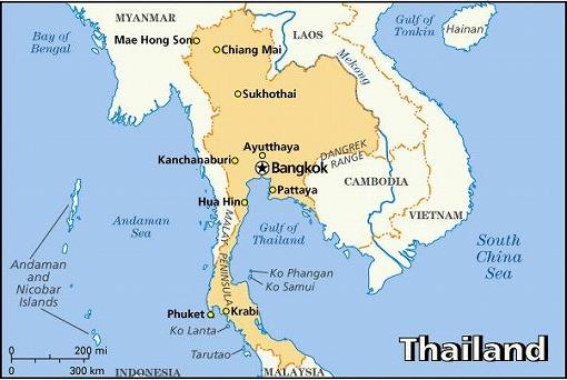 タイ王国 全図