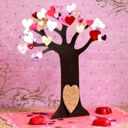 バレンタインツリーカード