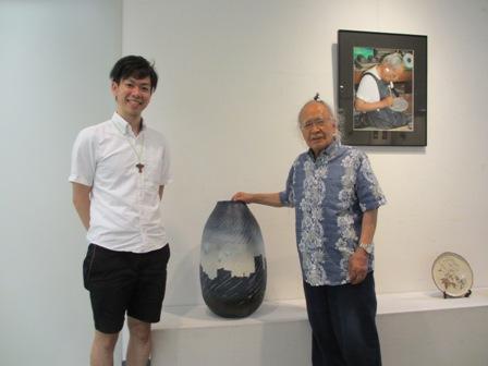 右:北口夢石先生、左:永山