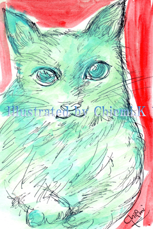 Drw032_Blue Cat