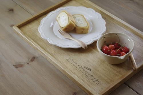 オーダーサイズの木製カフェトレー