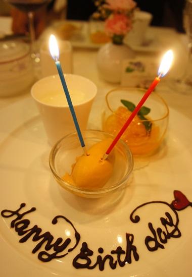 お誕生日デザート