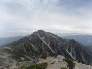 別山北峰からの剱岳20130922