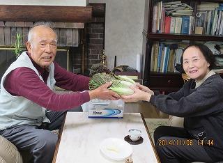 紫白菜プレゼント