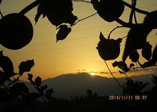 薬師岳から日が昇る