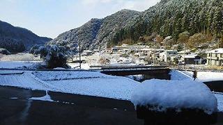 周南市大津島に雪