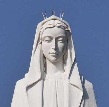 神ノ島教会マリア像顔