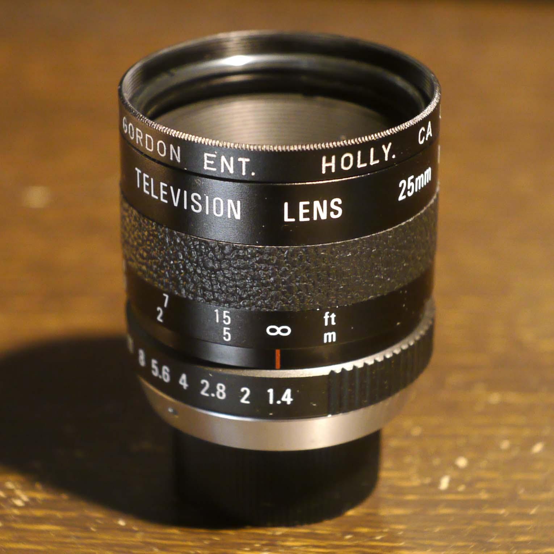 Cosmicar  Television Lens 25mm f1.4 Alan Gordon