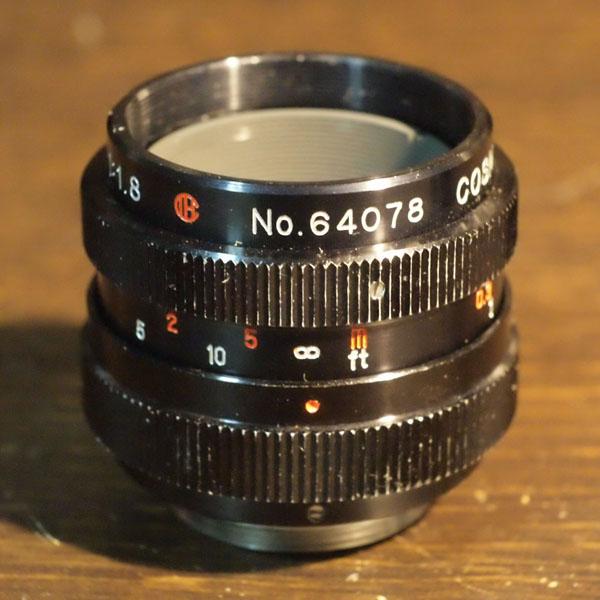 Cosmicar Television Lens 25mm f1.8