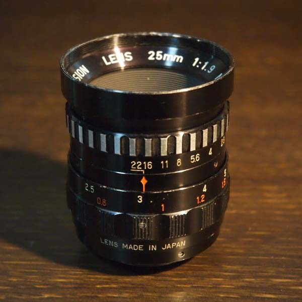 Cosmicar Television Lens 25mm f1.9