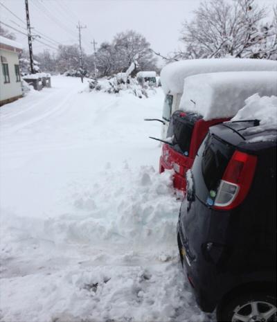 延々と続く雪道