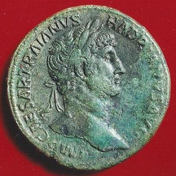 インフレヘッジ 4 ハドリアヌス帝のセステルティウス青銅貨。この程度のグレードは欲しい。
