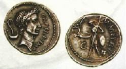 デナリウスインフレヘッジ 4 ローマ(共和政)デナリウス銀貨 カエサルの肖像を描いた名品