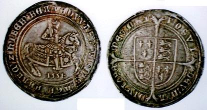 イギリスクラウン銀貨 1551年 エドワード6世 これだけのものは滅多に目にできない
