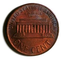 アメリカ1セント銅貨1972年D (デンヴァ―) 裏