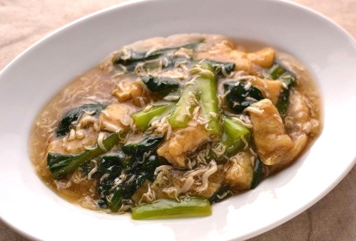 小松菜と生しらすの煮浸し