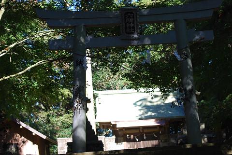 六所神社の鳥居が