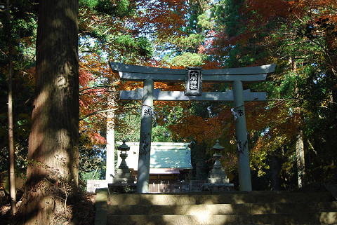 六所神社の境内