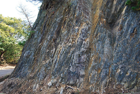 変成岩の岸壁