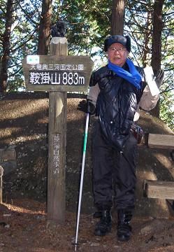 山頂にて撮影