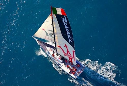 Soldini Maserati under the sail