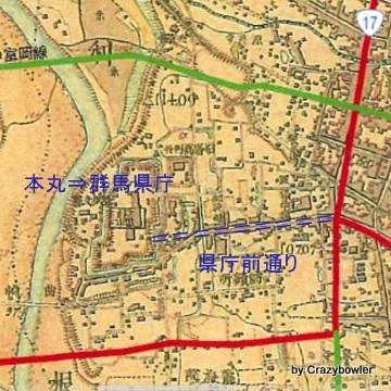 迅速測図‗前橋城付近