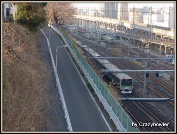 西日暮里駅から田端台へ上る坂