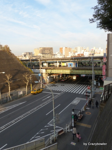 西日暮里公園 (道灌山公園)横の階段
