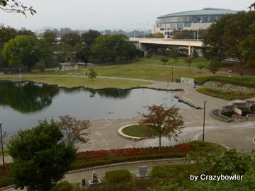 前橋城土塁から前橋公園(前橋市)