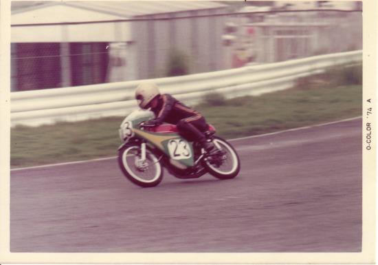 '74MFJ 筑波のレース (第1コーナー)