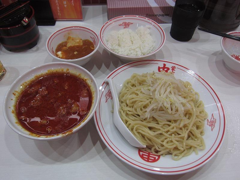 冷やし味噌 麺大盛り 定食 瓶ビール ¥770+¥60+¥170+¥500