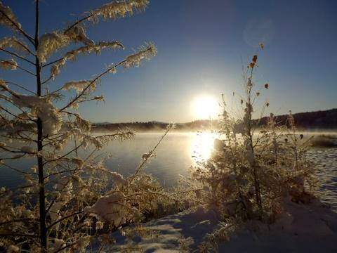 霊仙寺湖畔の朝