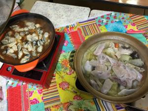 牡蠣鍋ふぐ鍋