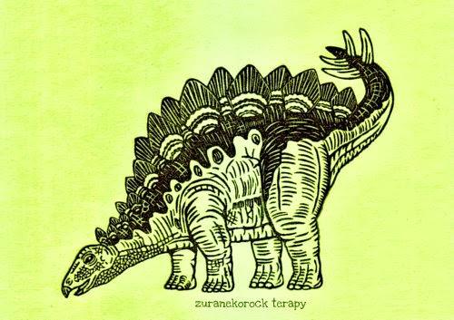 恐竜はんこ ステゴサウルスの巻