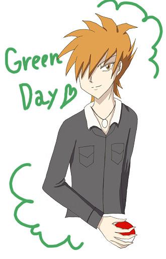 【落書き】グリーンの日