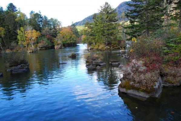 阿寒湖 滝口付近