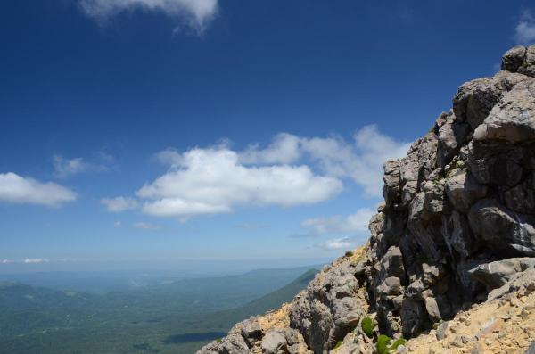 雌阿寒岳登山中の写真です・・・